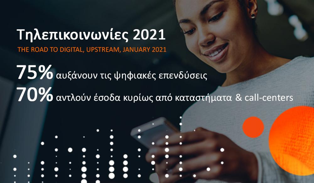 3 στις 4 εταιρείες τηλεπικοινωνιών επενδύουν στον ψηφιακό μετασχηματισμό τους το 2021
