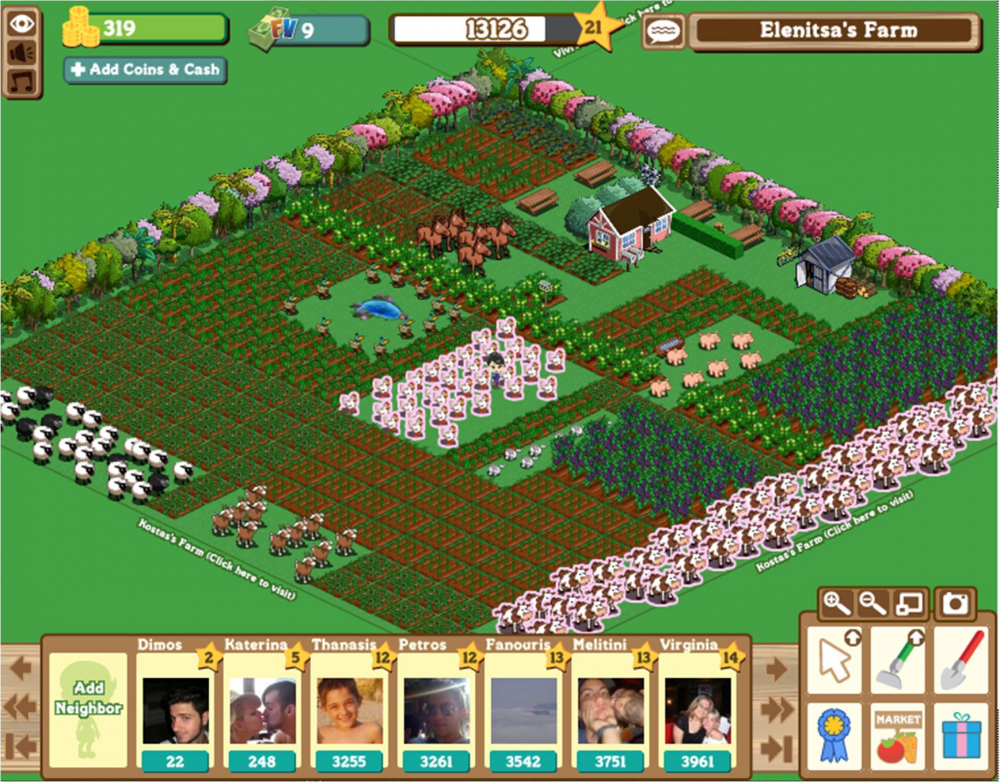 Farmville στο Facebook!