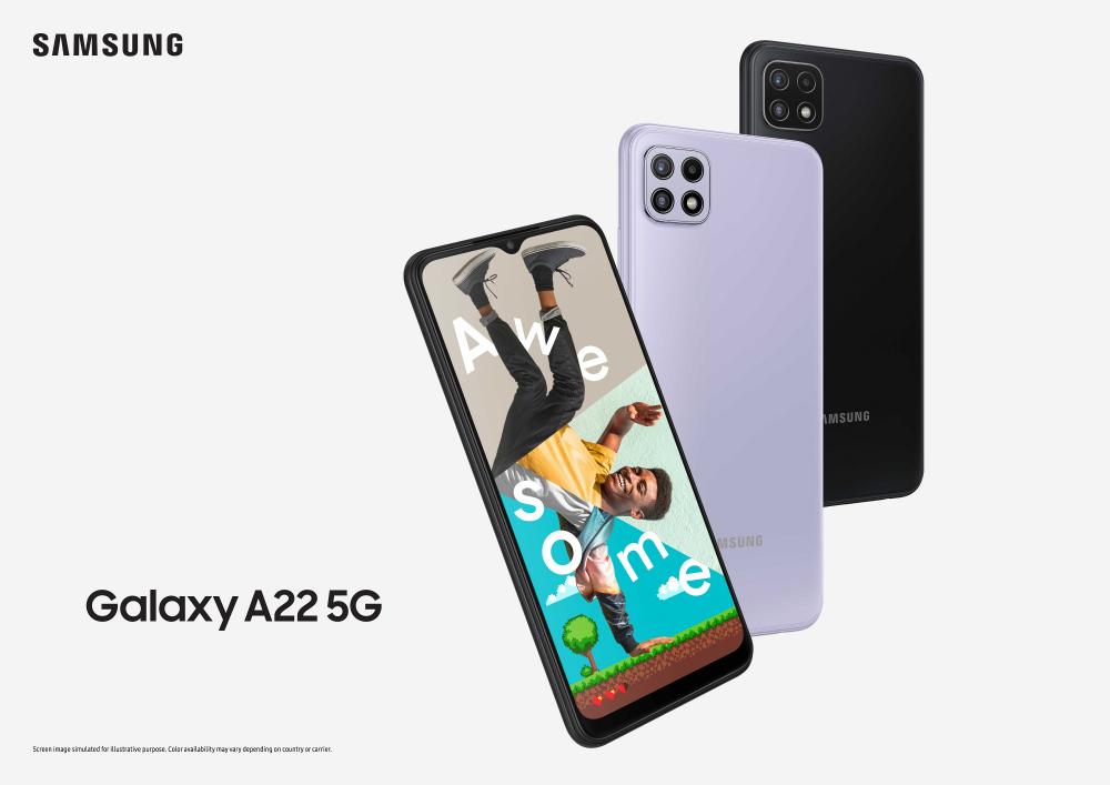 Samsung Galaxy A22 5G: νέο προσιτό 5G smartphone από τη Samsung