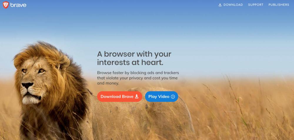 Brave ένας γενναίος browser