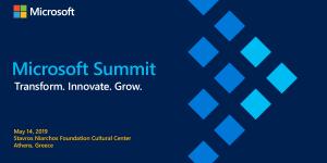 Στις 17 Μαΐου το 4ο Microsoft Summit