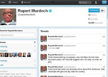 Ο Ρούπερτ Μέρντοχ στο Twitter