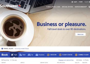 Προβληματικό site για την Southwest Airlines
