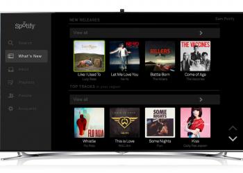 Spotify και στην τηλεόραση