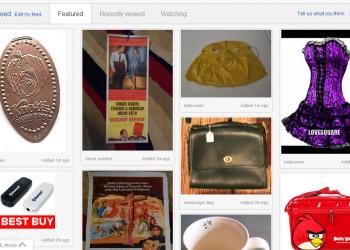 Και το ebay μοιάζει με το Pinterest