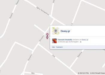 Πιο κοντά Foursquare και Facebook