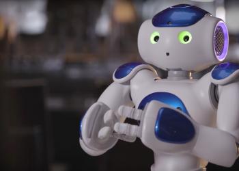 Ενα ρομπότ στη ρεσεψιόν