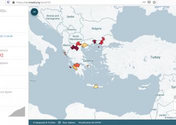 iMEdD Lab: νέα features στην αποτύπωση της εξάπλωσης της κορωνοϊού στην Ελλάδα και στον κόσμο