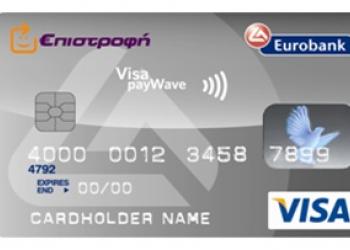 Πιστωτικές κάρτες ανέπαφων πληρωμών από Eurobank