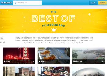 Τα καλύτερα σημεία με βάση το Foursquare