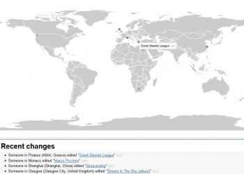 Δες live τις αλλαγές στη Wikipedia