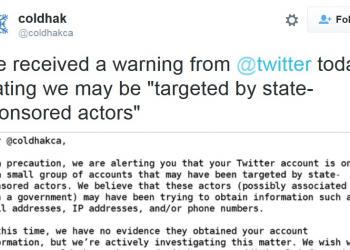 Twitter προς χρήστες: Κάποιο κράτος θέλει το κακό σας