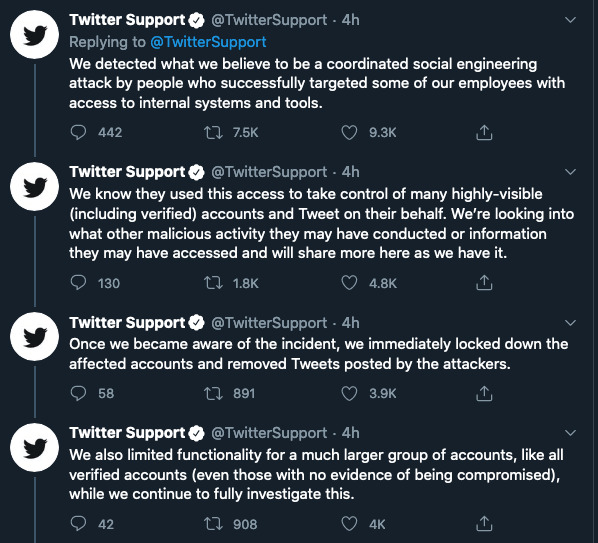 Twitter engineering compromise incident